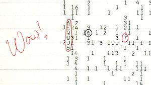 """Wow! संदेश 15 अगस्त 1977 को सेटी मे कार्यरत डा जेरी एहमन ने ओहीयो विश्वविद्यालय के बीग इयर रेडीयो दूरबीन पर एक रहस्यमयी संदेश प्राप्त किया। इस संदेश ने परग्रही जीवन से संपर्क की आशा मे नवजीवन का संचार कर दिया था। यह संदेश 72 सेकंड तक प्राप्त हुआ लेकिन उसके बाद यह दूबारा प्राप्त नही हुआ। इस रहस्यमय संदेश मे अंग्रेजी अक्षरो और अंको की एक श्रंखला थी जो कि अनियमित सी थी और किसी बुद्धिमान सभ्यता द्वारा भेजे गये संदेश के जैसे थी। डा एहमन इस संदेश के परग्रही सभ्यता के संदेश के अनुमानित गुणो से समानता देख कर हैरान रह गये और उन्होने कम्प्युटर के प्रिंट आउट पर """"Wow!"""" लिख दिया जो इस संदेश का नाम बन गया।"""