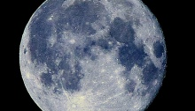 चंद्रमा उत्तरी गोलार्ध मे(न्युयार्क)