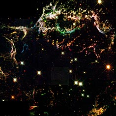 श्याम विवर का जन्म सुपरनोवा विस्फोट के पश्चात होता है।