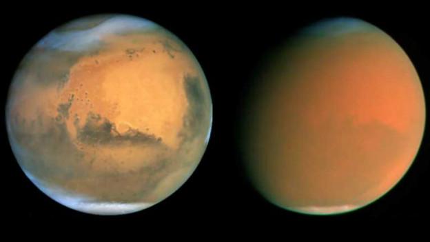 मंगल पर धूल के तूफ़ान कुछ ही घंटों में उठ सकते हैं और पूरे ग्रह को कई दिनों पर अपनी चपेट में ले लेते हैं।