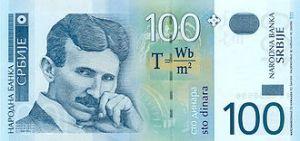 टेस्ला सर्बीयन दिनार पर