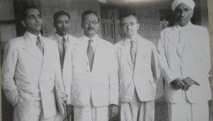 सी वी रामण के साथ भाभा