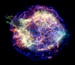 A supernova remnant believed to be the remains of a massive star that exploded over 300 years ago.