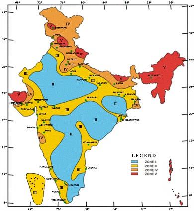 IndiaseismicZones