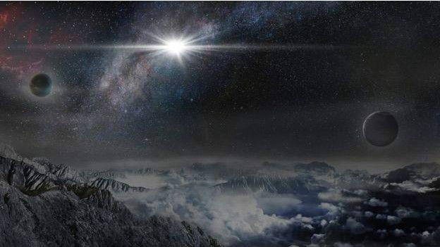 कल्पना करें, आप सुपरनोवा से 10000 प्रकाशवर्ष दूर किसी ग्रह पर हैं। तब सुपरनोवा इतना चमकदार दिखेगा।