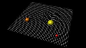 द्रव्यमान द्वारा काल-अंतराल(spacetime) मे उत्पन्न विकृति