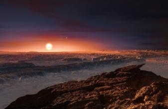 प्राक्सीमा बी ग्रह की सतह का दृश्य(कल्पना)