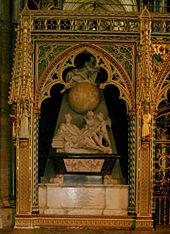 वेस्ट्मिनिस्टर एबे मे न्यूटन की कब्र