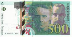 मेरी तथा पियरे क्युरी(Marie and Pierre Curie) फ़्रेंच फ़्रेंक्स