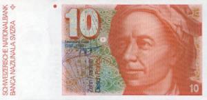लिओनार्ड युलर(Leonhard Euler) स्विस फ़्रेंक्स
