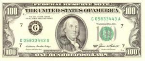 बेंजामीन फ़्रैंकलीन (Benjamin Franklin) अमरीकी डालर
