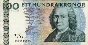 कार्ल लिन्ने(Carl Linne (Linnaeus)) स्विडिस क्रोनर