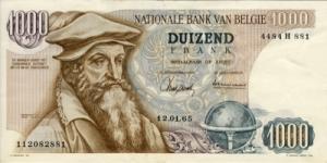 मारीस मर्केटर( Marius Mercator) बेल्जीयन फ़्रेंक्स