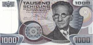 एरवीन श्रोडींगर( Erwin Schrödinger), आस्ट्रीयन शिलिंग