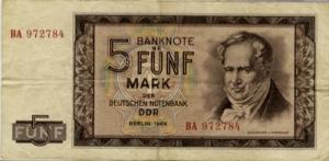 अलेक्जेंडर वान हम्बोल्ड्त (Alexander von Humboldt) पुर्वी जर्मनी मार्क्स