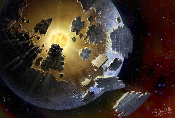 KIC-8462852 के आसपास संभावित डायसन स्फियर