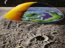 कांच के गुंबदो के अंदर मानव कालोनी(कोपरनिकस डोम)